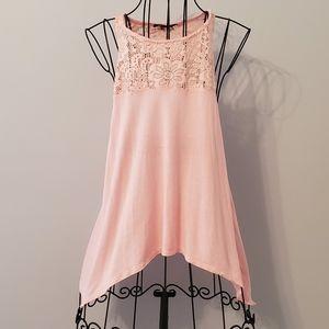 ambiance | Blush Pink Lace Tank Top